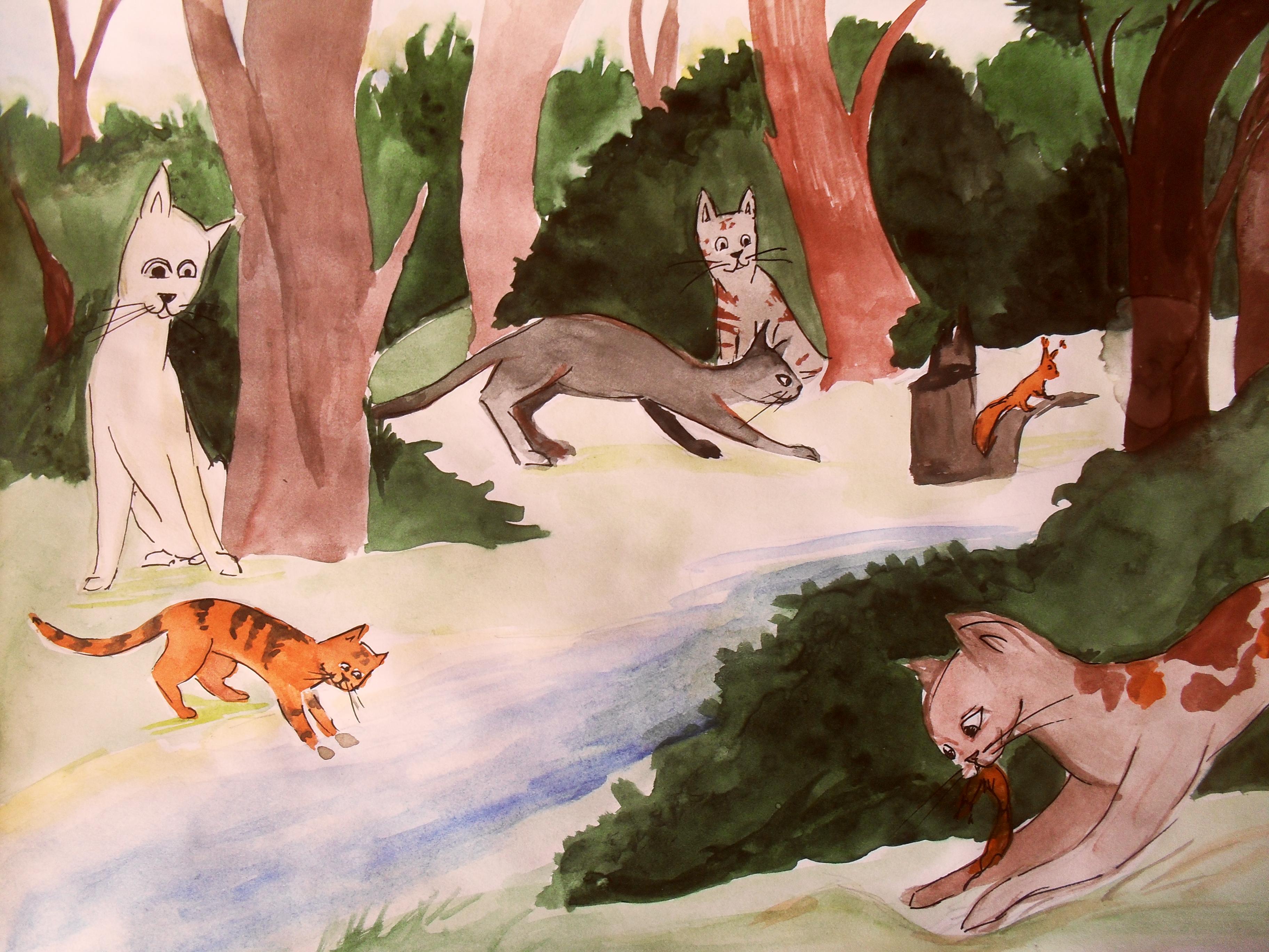 Информацию коты воители