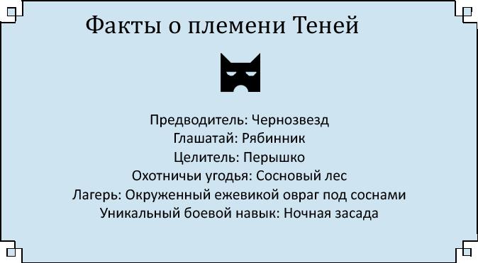 Имена котов воителей грозового племени