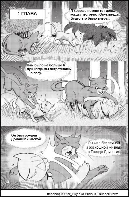 Коты воители манга бич читать онлайн