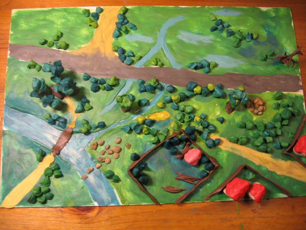 Поделки из пластилина карты 41